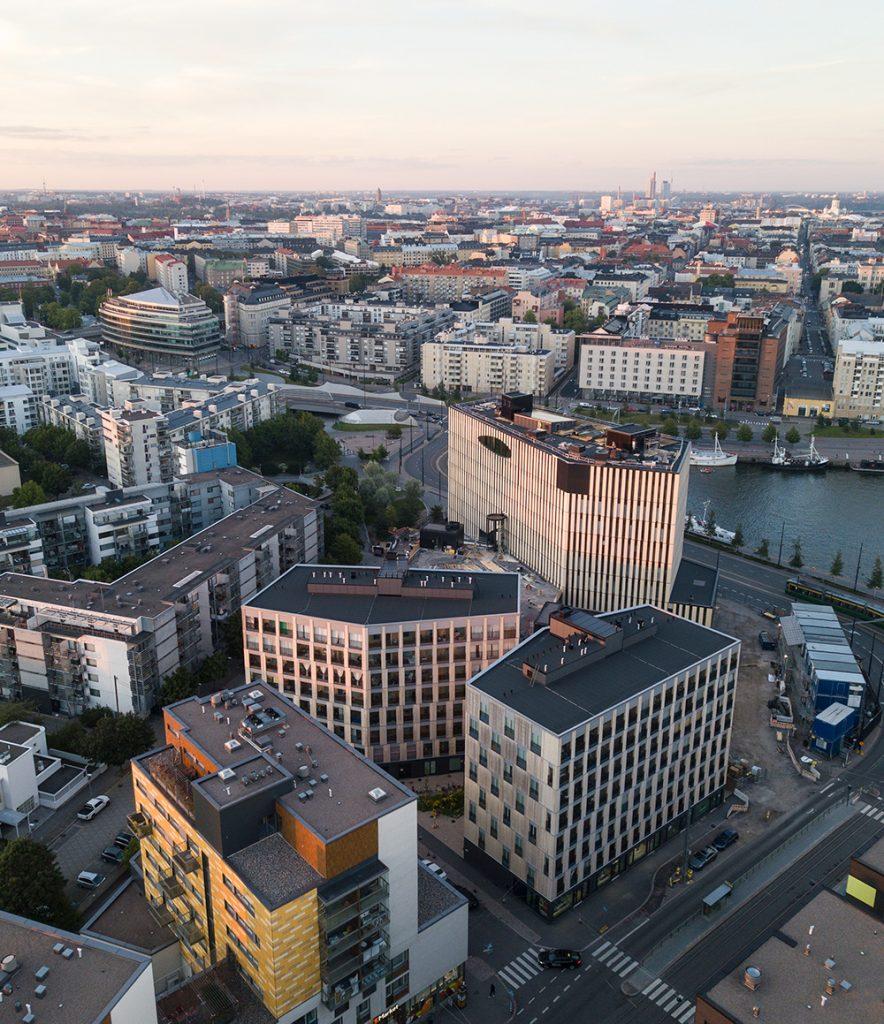 Wood City Jätkäsaaressa Helsingissä